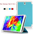 IVSO Samsung Galaxy Tab S 8.4 Ultra Lightweight Slim Smart Cover Case with Auto Sleep/Wake Function -will only fit Samsung Galaxy Tab S 8.4 Tablet (Blue)