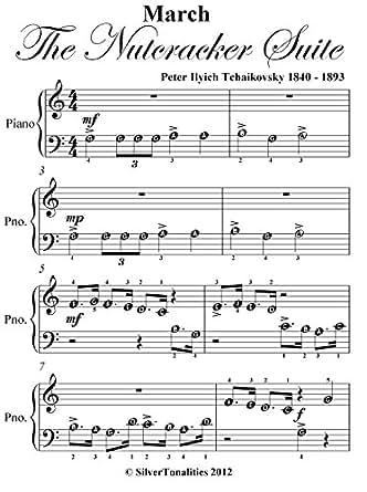 March Nutcracker Suite Tchaikovsky Beginner Piano Sheet