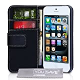 iPhone 5 PU Leather Wallet Case Blackby Yousave Accessories