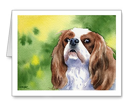 Cavalier King Charles Spaniel - Set of 10 Note Cards With Envelopes