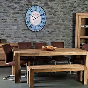 riesige uhr westminster xl wanduhr 80cm wohzimmeruhr antik optik landhaus t rkis. Black Bedroom Furniture Sets. Home Design Ideas