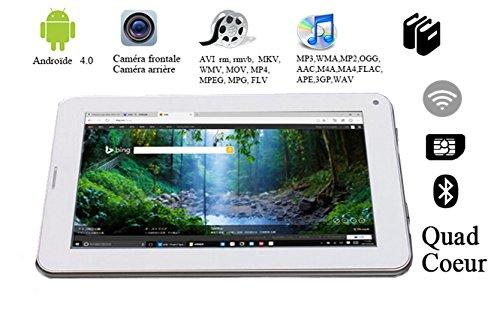 G-Anica 7 Zoll Phablet Smartphone (Unlocked Ohne Vertrag) Tablet PC Dual Core Dual SIM Android 4.0 1GB RAM 8GB ROM Bluetooth GPS WIFI (weiß)