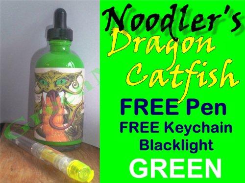 Noodlers Dragon Catfish GREEN Highlighter Fountain Pen Ink w/FREE Pen & Blacklight