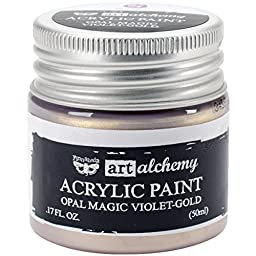 Prima Marketing 963637 Finnabair Art Alchemy Acrylic Paint, 1.7 fl. oz., Opal Magic Violet/Gold