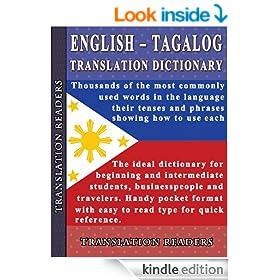 English - Tagalog Translation Dictionary and Phrasebook
