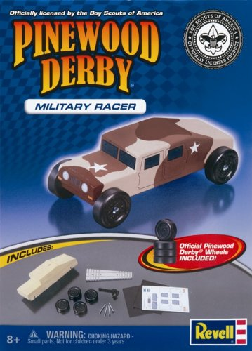 Revell Pinewood Derby Military Racer Kit