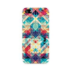 Rayite Rounded Squares Premium Printed Case For Apple iPhone 5/5s