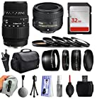 Beginners Accessories Package with Sigma 70-300mm f/4-5.6 DG Autofocus Lens + 50mm f/1.8G Lens for Nikon DF D7200 D7100 D7000 D5500 D5300 D5200 D5100 D5000 D3300 D3200 D3100 D3000 D300S D90 D60 DSLR SLR Digital Camera includes 32GB Memory + Card Reader + Large Padded Case + 5 Piece Filter Kit + 2.2x Telephoto Lens + 0.43x Wide Angle Lens + Extra Lens Cap + Dust Cleaning Kit + $50 Gift Card for Prints