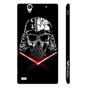 Sony Xperia C4 Skull Raider designer mobile hard shell case by Enthopia