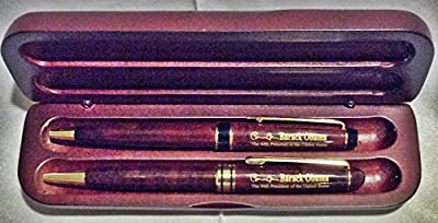 Barack Obama inauguration rosewood pen set with