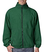 Ultraclub 8485 UC Iceberg Zip Jacket - Forest Green - L