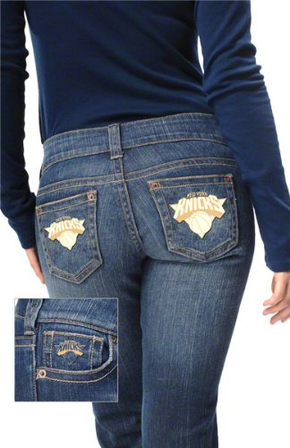 New York Knicks Women's Denim Jeans - by Alyssa Milano at Amazon.com