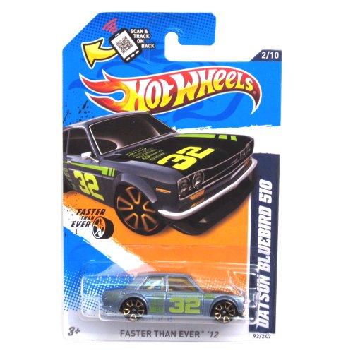 2012 Hot Wheels Faster Than Ever Datsun Bluebird 510 Grey #92/247