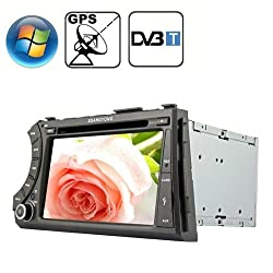 See Rungrace 7.0 inch Windows CE 6.0 TFT Screen In-Dash Car DVD Player for Ssangyong Acyton Kyron with Bluetooth / GPS / RDS / DVB-T Details