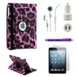Gearonic iPad Mini 5-in-1 Accessories Bundle Purple Leopard Rotating Case Business Travel Combo Reviews