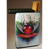 Cigarette Case Heart Wing With New Flat Slide Top