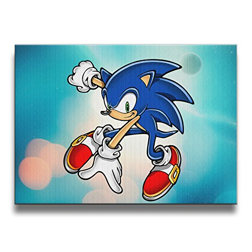 PHOEB Indoor Decorations - Sonic The Hedgehog Frameless Picture Poster & Photo Frame Wood For 16x20 Inch Photo - Displays