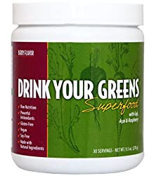 buy Drink Your Greens Superfood With Goji, Acai & Raspberry. Vegan & Gluten Free, Green Juice To Go Powder, Complete Nutrition, Powerful Antioxidants, Multi Vitamins, Minerals, Prebiotic'S And Probiotics
