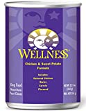 Wellness Complete Health Natural Wet Canned Dog Food, Chicken & Sweet Potato Recipe, 12.5-Ounce Can (Value Pack of 12)