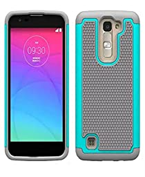 LG K7 Case,Generic Rubber Hybrid Hard Silicone Shockproof Case (Mint Green)