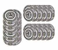 30 Bearing 608ZZ 8x22x7 Shielded Greased Miniature Ball Bearings from BC Precision