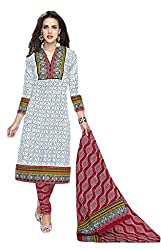 Sree Impex Women's Cotton Unstitched Dress Material (SI-CO-24_Multi_Free Size)