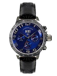 André Belfort 410132 - Reloj analógico de caballero automático con correa de piel negra - sumergible a 50 metros