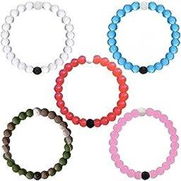 Feri--su Silicone Beaded Bracelet 2 day shipping available (Medium,Set of 5)