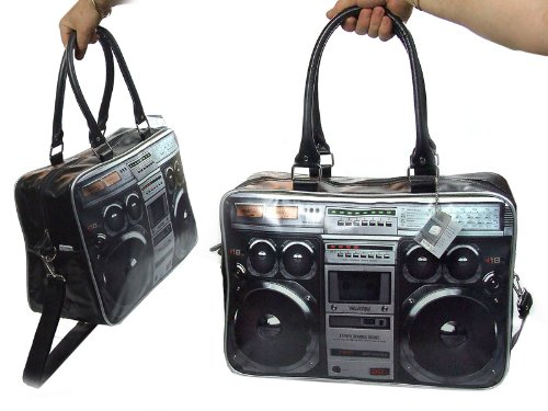 Present Time Ghetto Blaster Weekend Bag with Photo Print