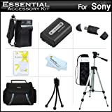 Essential Accessories Kit For Sony Cyber-shot DSC-HX200V, DSC-HX100V Digital Camera Includes Extended Replacement (1000 maH) NP-FH50 Battery + AC/DC Travel Charger + USB 2.0 Card Reader + Deluxe Case + 50 Tripod w/Case + Screen Protectors + More