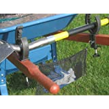 Grizzlygrip Wheelbarrow Tool: Garden with Less Effort. Grips All Your Long Handled Tools Securely and Safely As You Work Around the Yard or Job Site. Holds Rakes, Shovels, Trimmers and All Long Handled Tools. Great Gift for Any Gardener. Plus a Versatile Mesh Bag for Holding Your Cell Phone, Water Bottle or Gloves.