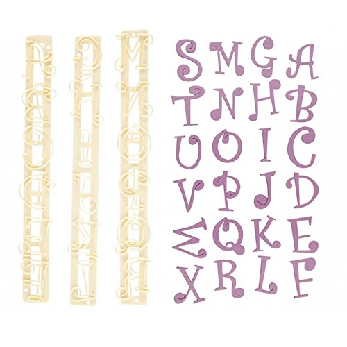 CK Products FMM Upper Case Funky Alphabet & Number Tappit Cutters Set