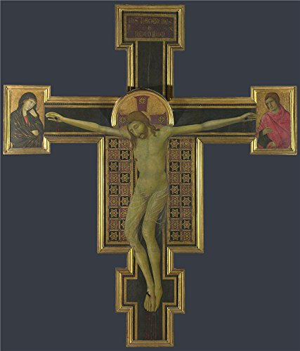 'Style Of Segna Di Bonaventura Crucifix ' Oil Painting, 24 X 28 Inch / 61 X 71 Cm ,printed On Polyster Canvas ,this Imitations Art DecorativeCanvas Prints Is Perfectly Suitalbe For Nursery Artwork And Home Gallery Art And Gifts
