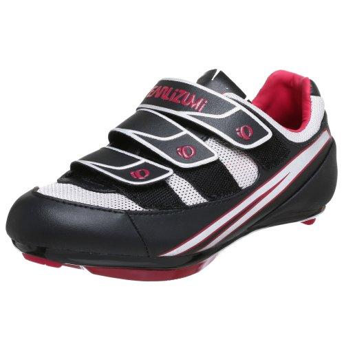 Pearl iZUMi Women's Quest Road II Cycling Shoe,Black/Silver,39 M EU / US Women's 7 M