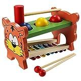 Toy - Arshiner Hammerbank Xylophon und Hammerspiel Kinder Klopfen Spielzeug Percussionset Baby Schlagzeug Spielzeug verbindet mit Musiktaste Selecta Battino S��er Tigermuster