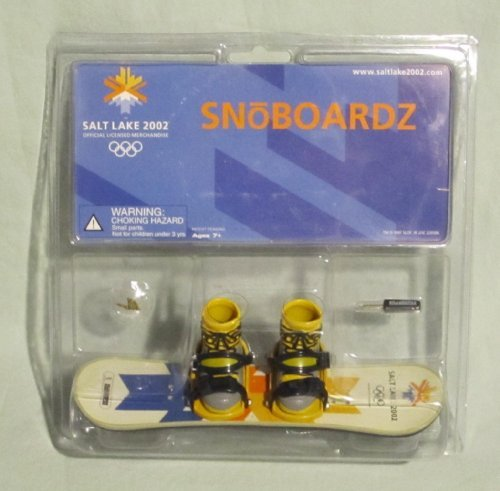 2002 Salt Lake Miniature Finger SnoBoardz Toy - 1