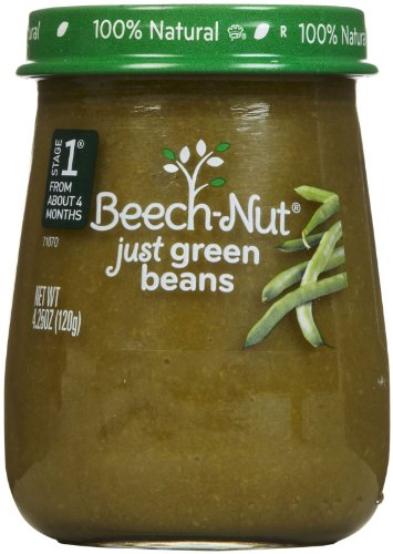 Beech-Nut Just Naturals Stage 1 Purees-Green Beans-4.25 Oz-10 Pack