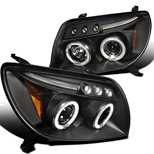 Spec-D Tuning 2LHP-4RUN03JM-TM Toyota 4Runner Black Led 2X Halo Projector Head Lights (Headlights Toyota 4runner compare prices)