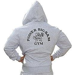 BIG SAM SweatJacket Sweater Sweatshirt Hoody UNCLE BODY DOG LOGO *3555*