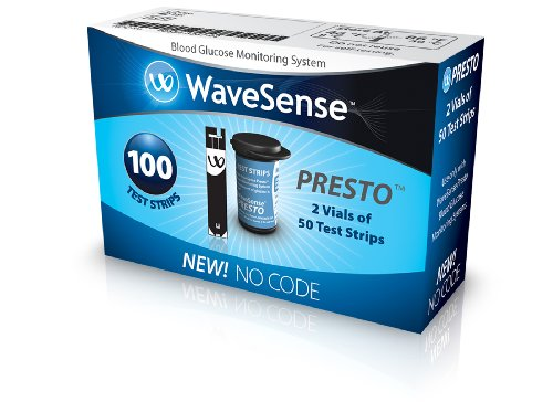 WaveSense Presto Test Strips, 100 Count Box