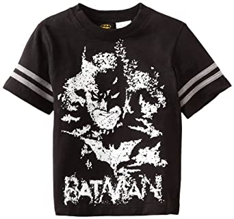 Warner Bros. Boys 2-7 Batman Short Sleeve Tee, Black, 4