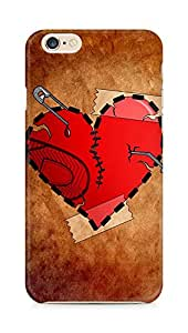 Amez designer printed 3d premium high quality back case cover for Apple iPhone 6 (Heart Damage)