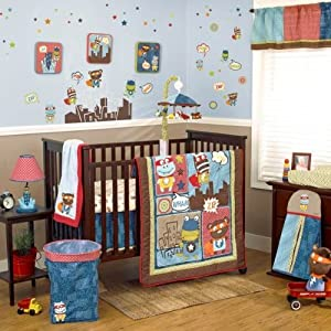 Cocalo Superhero Pals 4 Piece Crib Bedding