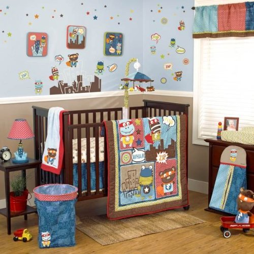 Cocalo Superhero Pals 4-piece Crib Bedding Set - 1