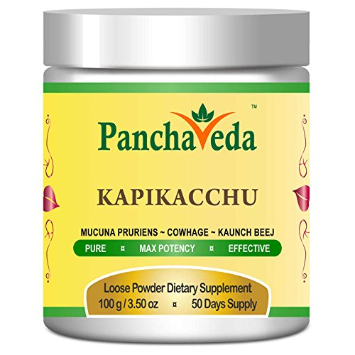 Panchaveda-Dopa-Mucuna-Pruriens-Powder-Organic-Ayurvedic-Herbal-Source-of-Natural-L-Dopa-Extract-Mood-Testosterone-Libido-Booster-Supplement-Velvet-Bean-Kapikacchu-Churna-For-Relaxation-and-Sleep