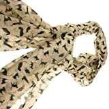 New Charm Fashion Apricot Color Cat Pattern Scarf Wrap for Women