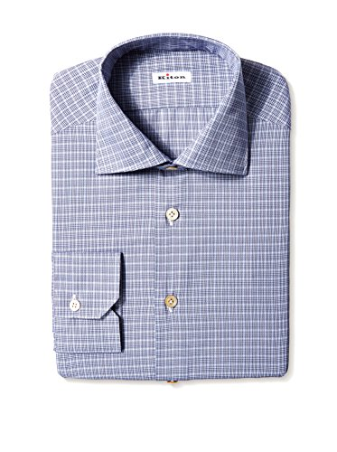Kiton Men's Gingham Dress Shirt