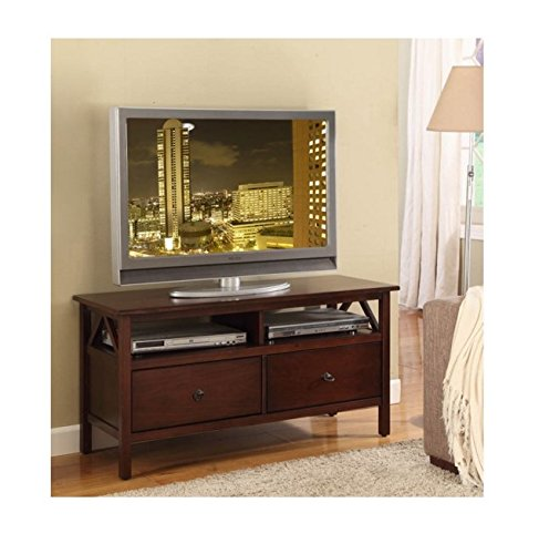 Antique Traditonal Transitional Brown TV Stand Aged Cherry Entertainment Center (Entertainment Center Pine compare prices)