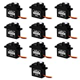 Gowoops 10PCS SG90 Mini Micro Analog Servo Motor 180 Degree Rotation High Torque Driver Gear Controller For Hobby RC Toy Vehicle Robot