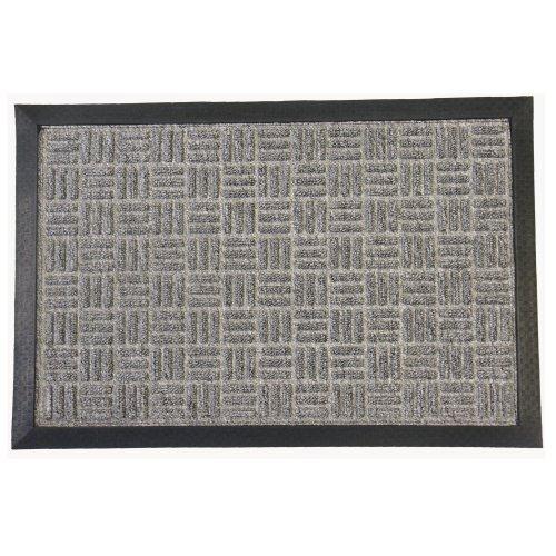 Rubber-Cal Wellington Carpet Door Mat - 16 x 24 inches - Gray Rug Mat